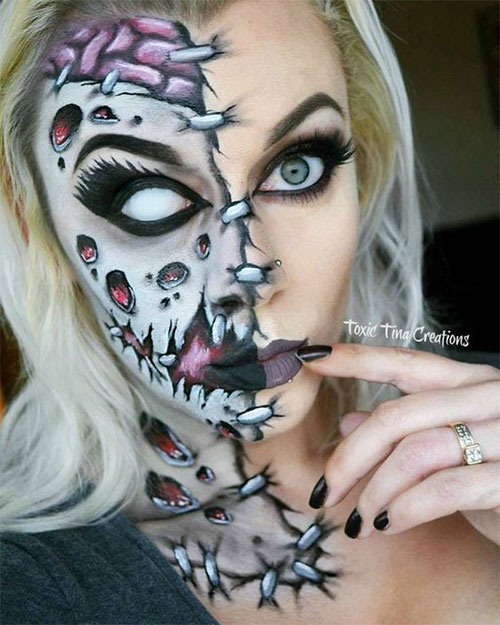 15-Scary-Halloween-Mouth-Teeth-Half-Face-Makeup-For-Girls-Women-2017-8
