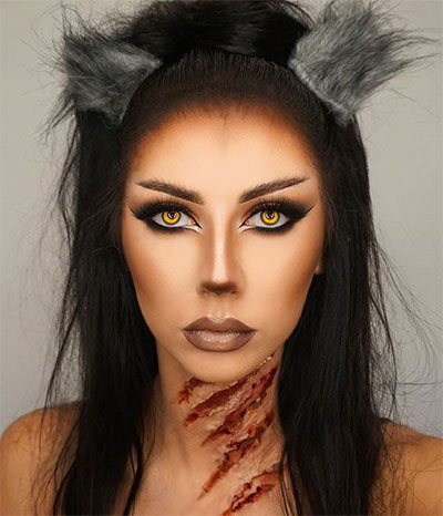 15 simple  easy halloween makeup ideas for girls  women