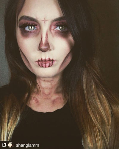 15+ Simple U0026 Easy Halloween Makeup Ideas For Girls U0026 Women 2017 | Modern Fashion Blog