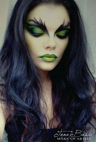 15-Witch-Halloween-Make-Up-Looks-For-Girls-Women-2017-1
