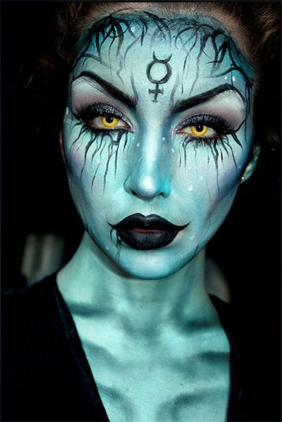 15-Witch-Halloween-Make-Up-Looks-For-Girls-Women-2017-3