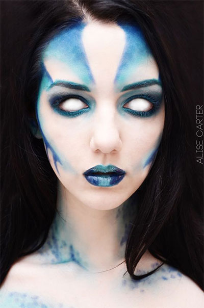 15-Witch-Halloween-Make-Up-Looks-For-Girls-Women-2017-5