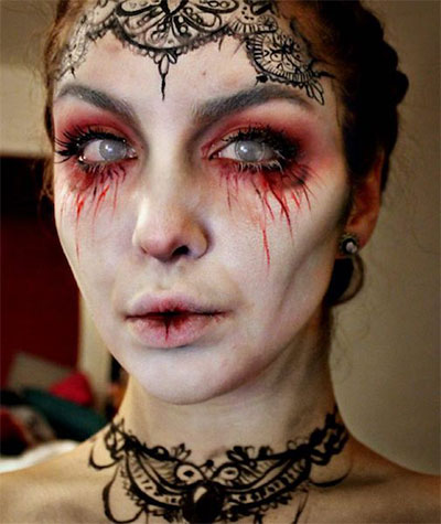 15-Witch-Halloween-Make-Up-Looks-For-Girls-Women-2017-7