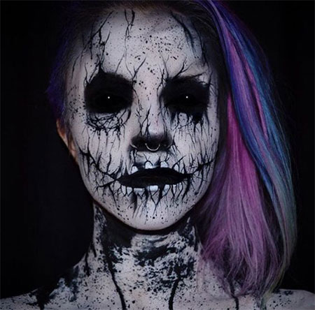 25-Scary-Halloween-Make-Up-Looks-For-Girls-Women-2017-7