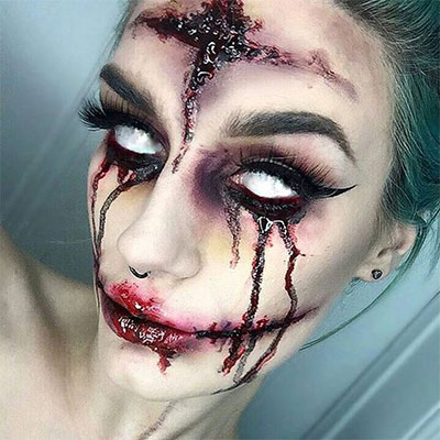 30-Scary-Halloween-Zombie-Face-Makeup-Looks-Ideas-2017-19