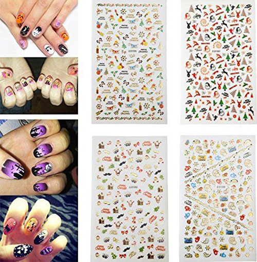 10-Amazing-Christmas-Nail-Art-Stickers-Decals-2017-4