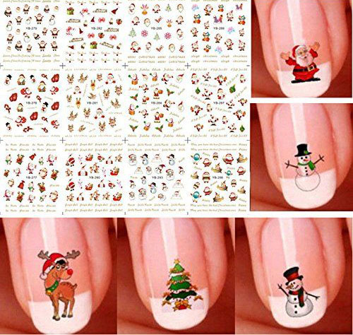 10-Amazing-Christmas-Nail-Art-Stickers-Decals-2017-5