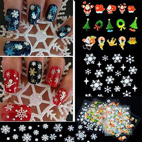 10-Amazing-Christmas-Nail-Art-Stickers-Decals-2017-6