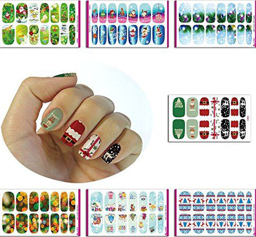 10 erstaunliche weihnachten nail art sticker decals. Black Bedroom Furniture Sets. Home Design Ideas