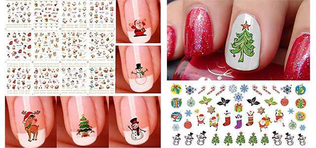 10 Amazing Christmas Nail Art Stickers Decals 2017 Modern