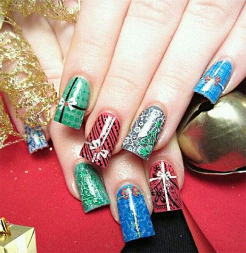 10-Christmas-Presents-Nail-Art-Designs-Ideas-2017-Xmas-Nails-1