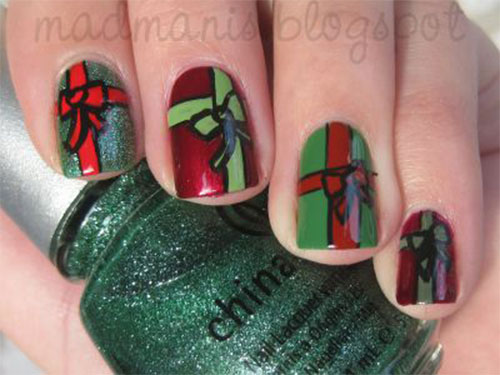 10-Christmas-Presents-Nail-Art-Designs-Ideas-2017-Xmas-Nails-6