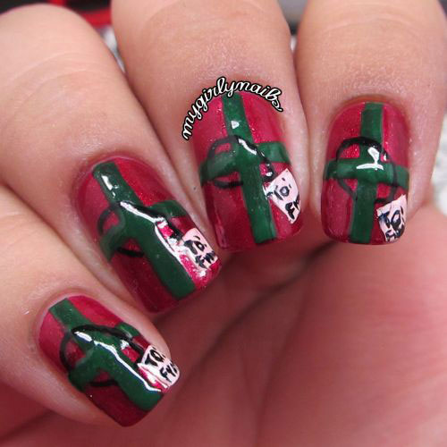 10-Christmas-Presents-Nail-Art-Designs-Ideas-2017-Xmas-Nails-9