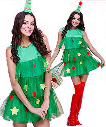 15-Cheap-Christmas-Tree-Costumes-Outfits-For-Kids-Adults-2017-15
