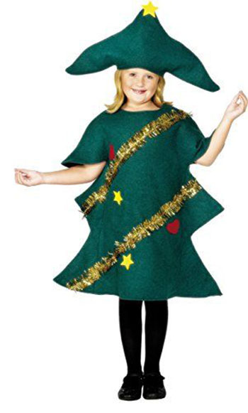 Cheap christmas tree costumes outfits for kids