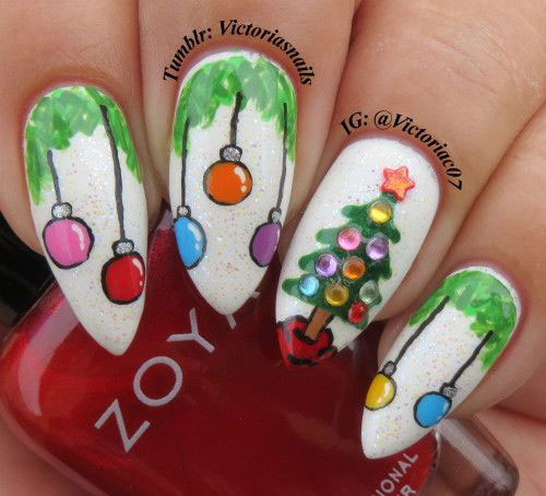Simple Nail Art Designs Christmas Papillon Day Spa