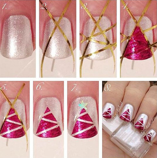 15-Easy-Simple-Christmas-Nails-Tutorials-For-Beginners-2017-3
