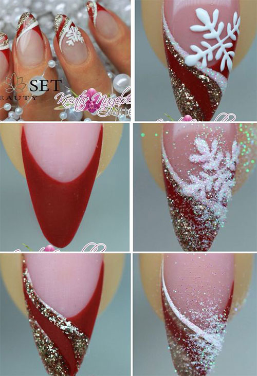 15-Easy-Simple-Christmas-Nails-Tutorials-For-Beginners-2017-8