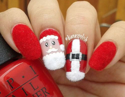 18-Christmas-Santa-Nail-Art-Designs-Ideas-2017- - 18 Christmas Santa Nail Art Designs & Ideas 2017 Xmas Nails