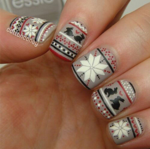 18-Ugly-Christmas-Sweater-Nail-Art-Designs-Ideas-2017-Xmas-Nails-10