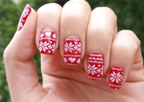 18-Ugly-Christmas-Sweater-Nail-Art-Designs-Ideas-2017-Xmas-Nails-14