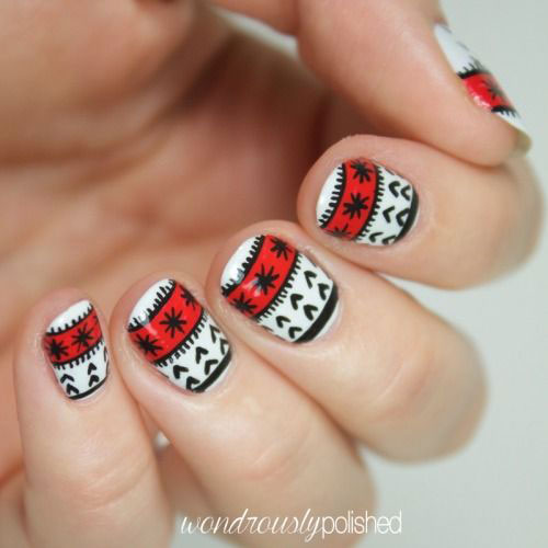 18-Ugly-Christmas-Sweater-Nail-Art-Designs-Ideas-2017-Xmas-Nails-16