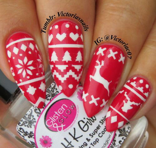 18-Ugly-Christmas-Sweater-Nail-Art-Designs-Ideas-2017-Xmas-Nails-2