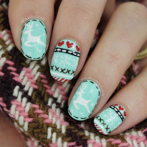 18-Ugly-Christmas-Sweater-Nail-Art-Designs-Ideas-2017-Xmas-Nails-3