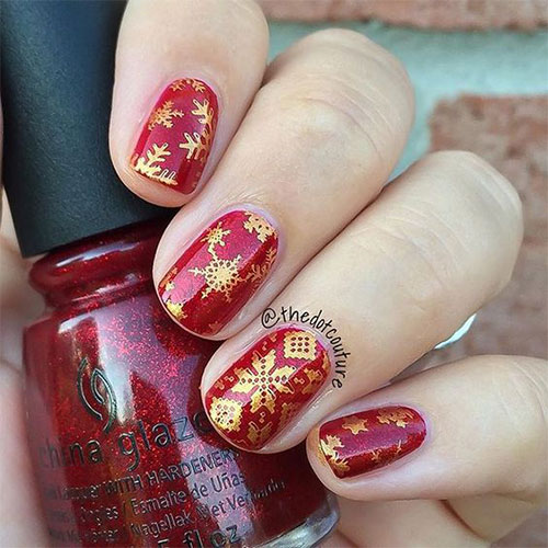 18-Ugly-Christmas-Sweater-Nail-Art-Designs-Ideas-2017-Xmas-Nails-4