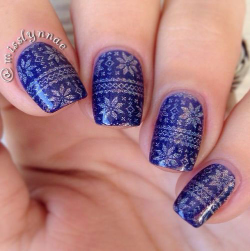 18-Ugly-Christmas-Sweater-Nail-Art-Designs-Ideas-2017-Xmas-Nails-5