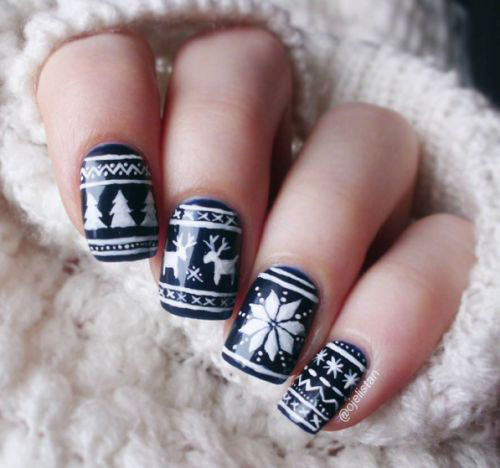 18-Ugly-Christmas-Sweater-Nail-Art-Designs-Ideas-2017-Xmas-Nails-6