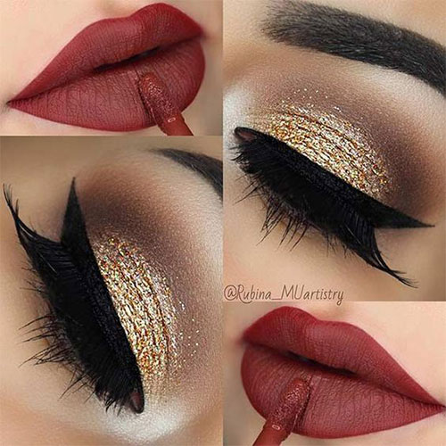 15-Christmas-Face-Eye-Party-Makeup-Ideas-For-Girls-Women-2017-10
