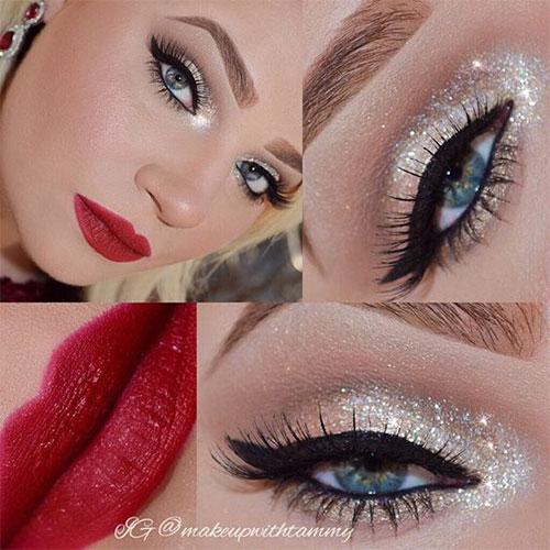 15-Christmas-Face-Eye-Party-Makeup-Ideas-For-Girls-Women-2017-11