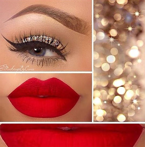 15 Christmas Face U0026 Eye Party Makeup Ideas For Girls U0026 Women 2017 | Modern Fashion Blog
