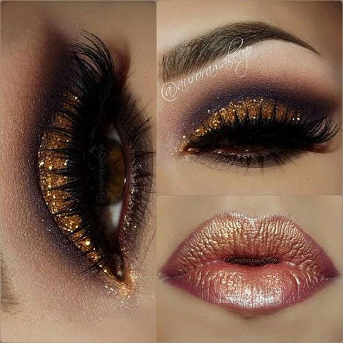 15-Christmas-Face-Eye-Party-Makeup-Ideas-For-Girls-Women-2017-14