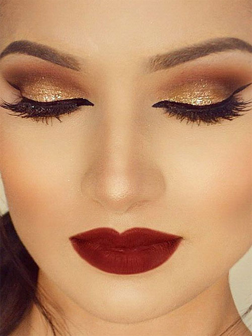 Good Christmas Party Makeup Ideas Part - 11: 15-Christmas-Face-Eye-Party-Makeup-Ideas-For-