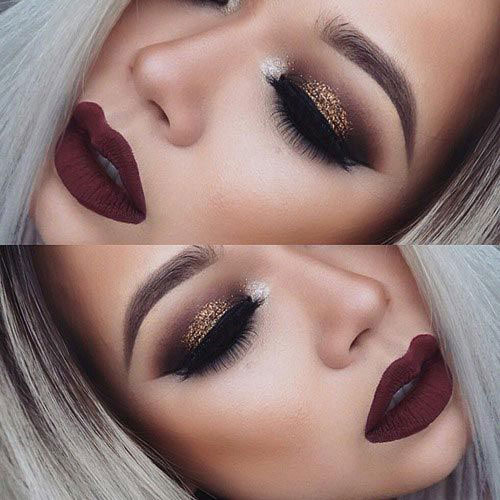 15-Christmas-Face-Eye-Party-Makeup-Ideas-For-Girls-Women-2017-5