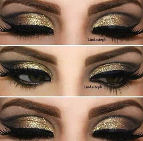 15-Christmas-Face-Eye-Party-Makeup-Ideas-For-Girls-Women-2017-6