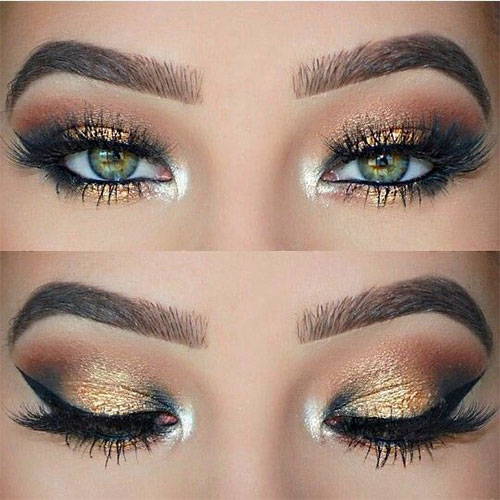 15-Christmas-Face-Eye-Party-Makeup-Ideas-For-Girls-Women-2017-7
