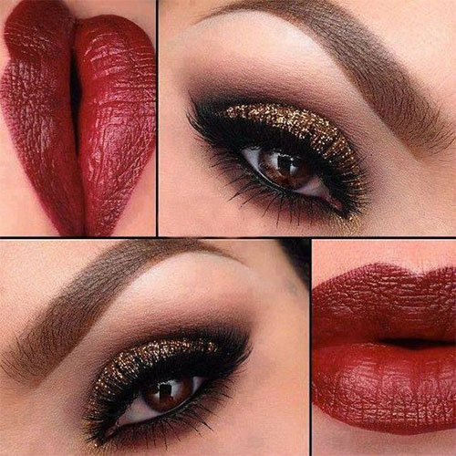 15 Christmas Face Amp Eye Party Makeup Ideas For Girls