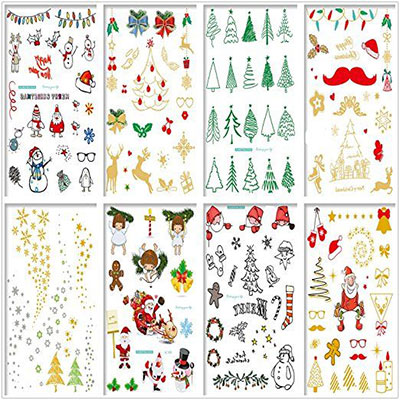 Merry-Christmas-Themed-Temporary-Tattoos-2017-1