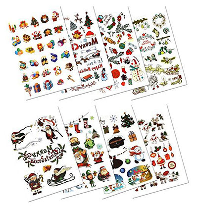 Merry-Christmas-Themed-Temporary-Tattoos-2017-5
