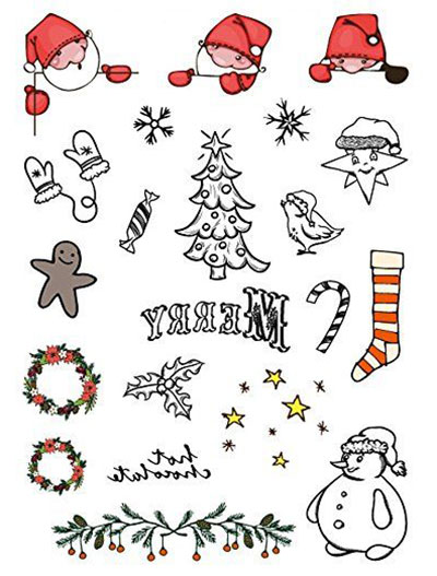 Merry-Christmas-Themed-Temporary-Tattoos-2017-6