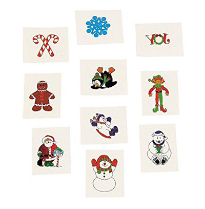 Merry-Christmas-Themed-Temporary-Tattoos-2017-7