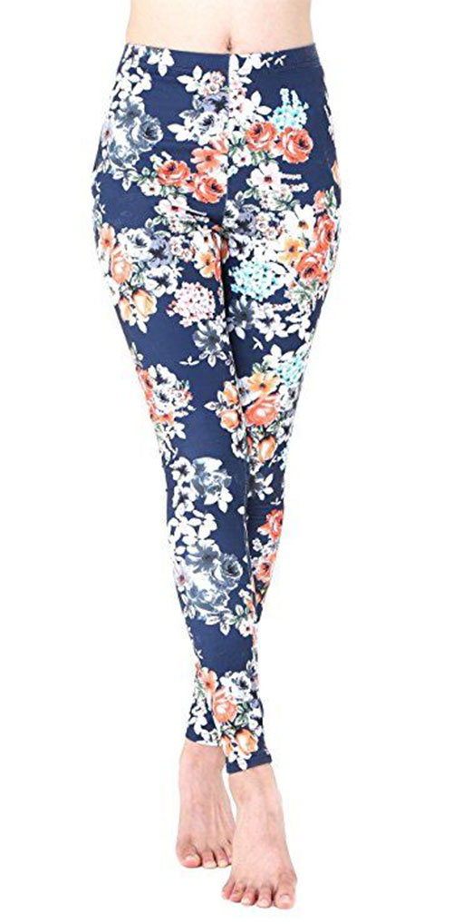 15-Floral-Print-Pants-Trousers-For-Girls-Women-2018-13