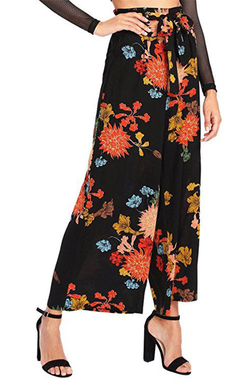 15-Floral-Print-Pants-Trousers-For-Girls-Women-2018-14