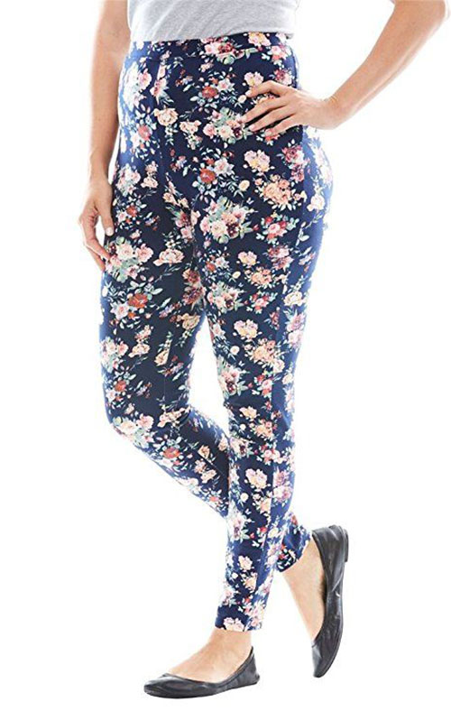 15-Floral-Print-Pants-Trousers-For-Girls-Women-2018-5