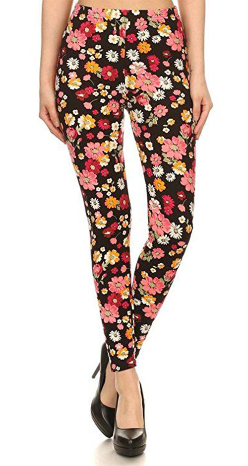 15-Floral-Print-Pants-Trousers-For-Girls-Women-2018-7