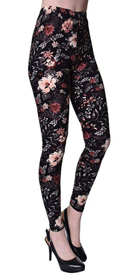 15-Floral-Print-Pants-Trousers-For-Girls-Women-2018-9