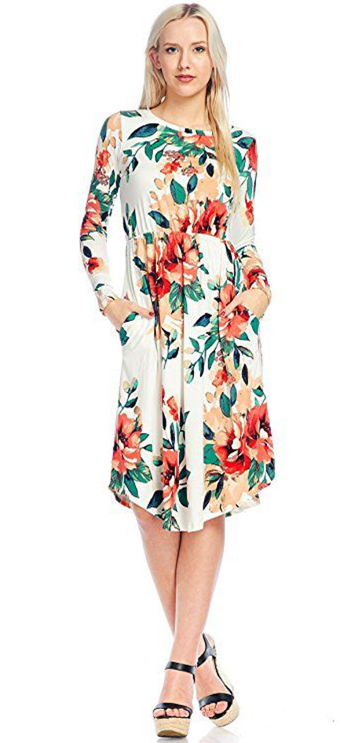 20-Best-Spring-Trendy-Dresses-Outfits-For-Ladies-2018-3